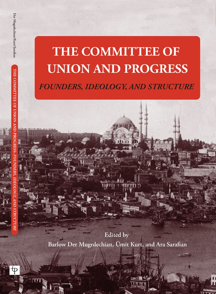 """""""The Committee of Union and Progress: Founders, Ideology, and Structure"""" book cover. A black and white photo of the Istanbul skyline."""